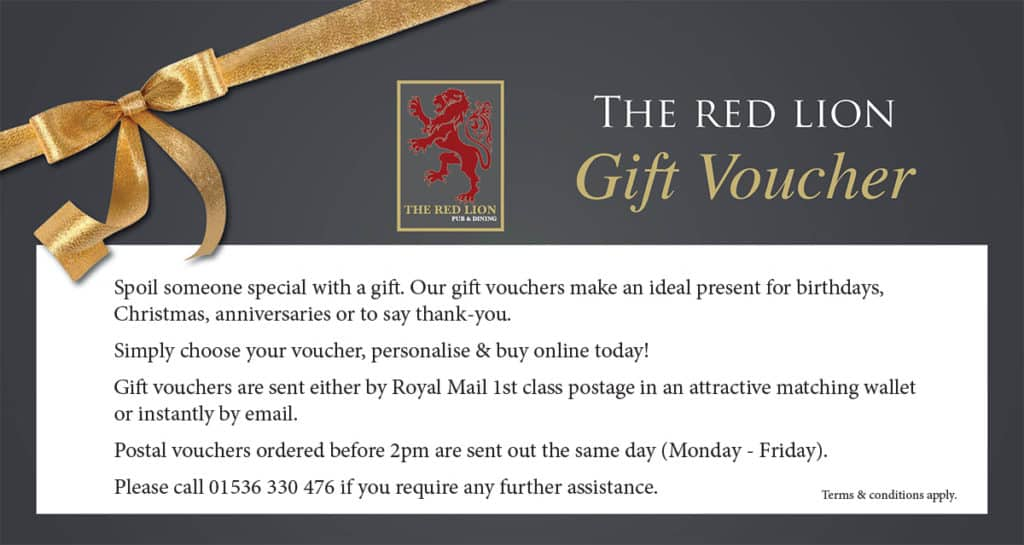 Red Lion Gift Vouchers